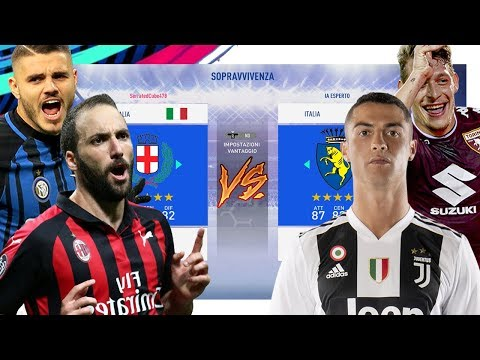 Team MILANO (Inter+Milan) vs Team TORINO! (Juve+Torino)! Partite epiche!