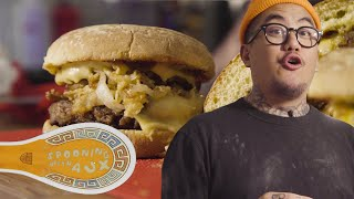 NO MEAT JAMESON GLAZED CRISPY ONION BURGER - SPOONING WITH AUX  EPISODE 1