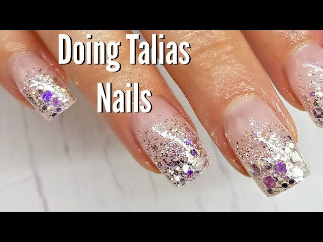 Doing Talias Nails  Chit Chat between two Nail Techs