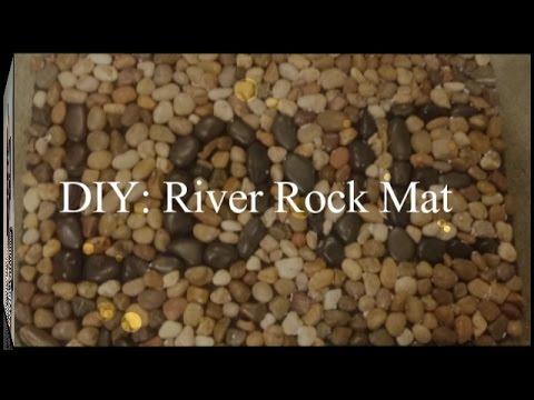 DIY River Rock Mat Less than $15