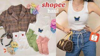 Shopee Haul 🌈 (trendy and aesthetic) + GIVEAWAY