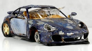 Restoration abandoned Porsche 911 Turbo damaged Model Car by Good Restore