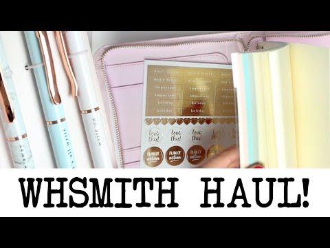 WHSmith Stationery Haul! August 2018