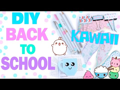 DIY Back to School  Канцелярия в стиле Kawaii  Bubenitta смотреть в хорошем качестве