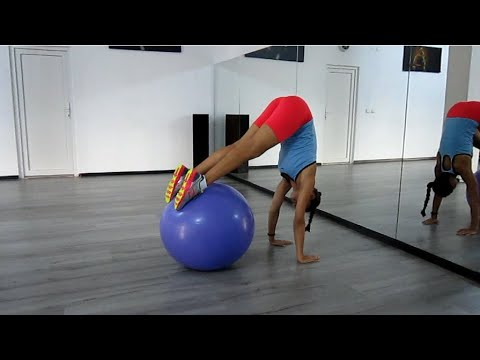 PIKE with a swiss ball, BEST exercise for CORE muscles by Klara Kalman