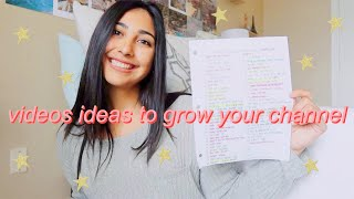 50+ video ideas to help grow your youtube channel