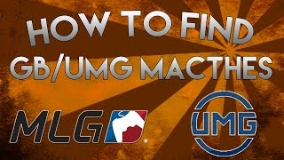 How to Find UMG/Gamebattles Matches