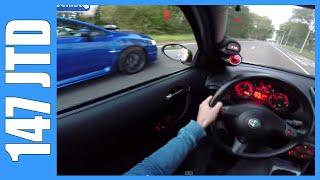 POV Alfa Romeo 147 JTD 272 HP vs 300 HP Subaru WRX STI