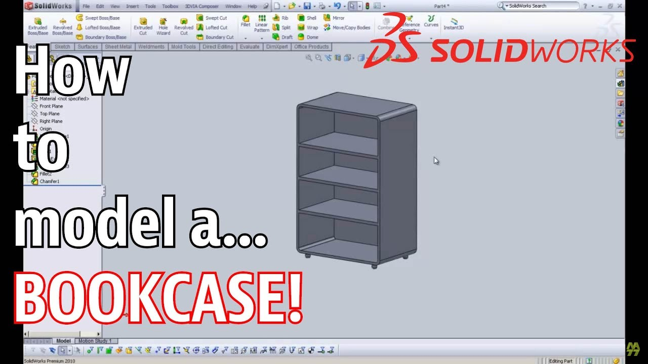 how to create animation of asembling cabinets