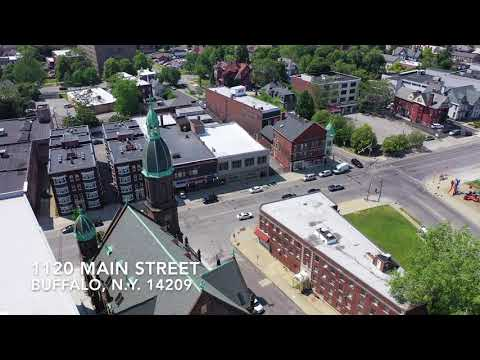 1120 Main Street Buffalo, N.Y. - Commercial Building For Sale - Aerial Drone Video