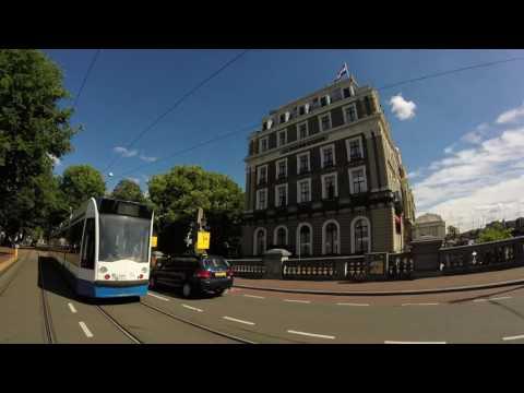 Centraal Station to Amstel Station Along Amstel River!