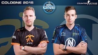 CS:GO - Fnatic vs. EnVyUS [Dust2] - ESL One Cologne 2015 - Grand Final Map 1(It's the Major everyone has been waiting for! The top sixteen teams from around the world compete for their chance at $250000 and the title of ESL One Cologne ..., 2015-08-23T22:33:45.000Z)