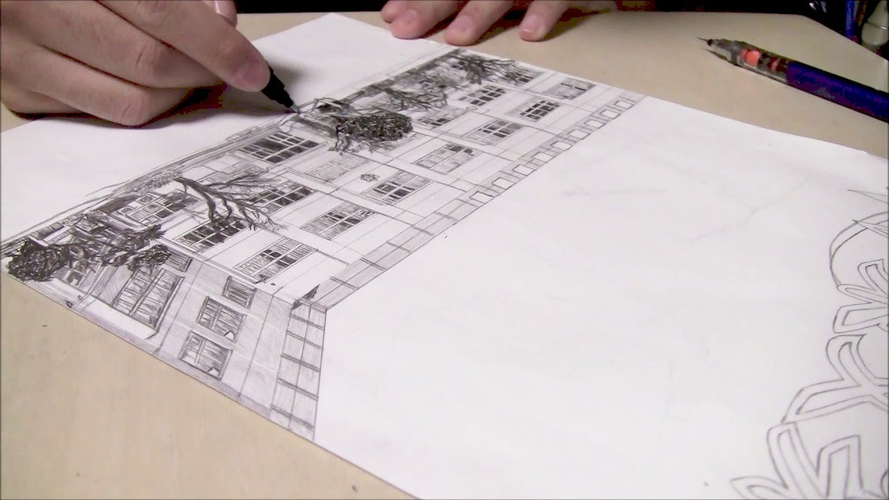 小学生による小学校校舎の写真模写 卒業文集表紙絵 小6 Youtube