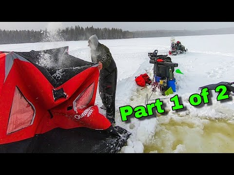 Solo Winter Camping Turns Dangerous While Wilderness Ice Fishing For Native Maine Brook Trout 1 Of 2