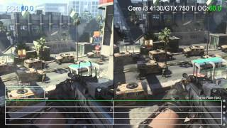 [60fps] Call of Duty: Advanced Warfare - PS4 vs. Core i3 4130/GTX 750 Ti Frame-Rate Tests