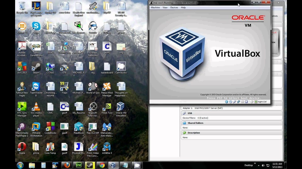 Installing a mac osx virtual machine on windows