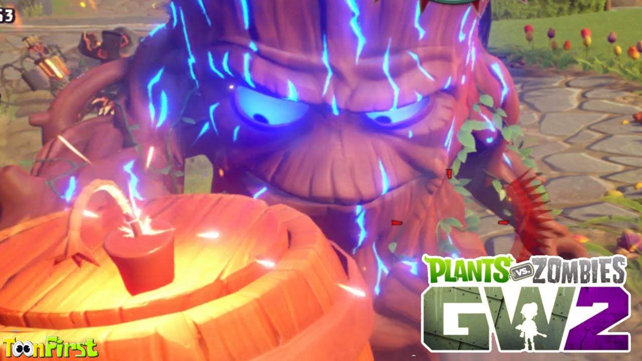 Plants Vs Zombies Garden Warfare 2 Super Giga Torchwood Boss Wave Youtube