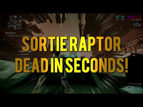 Warframe: How to Kill Sortie Raptor in Seconds!