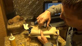 How To Make a Leather Western Cowboy Holster 2/3