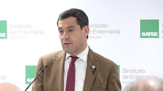 Moreno tiende la mano para mejorar la sanidad andaluza