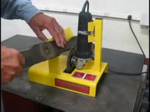 How To Make A Mower Blade Sharpening Jig Funnydog Tv