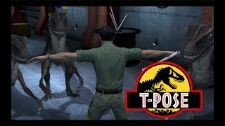 Jurassic Park The Game but T-pose