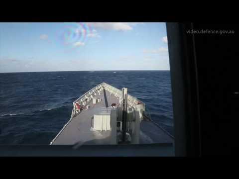 HMAS Newcastle SM2 Firing
