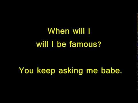 bros - when i will be famous ? with lyrics