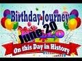 Birthday Journey June 20 New