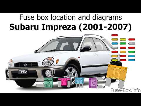 [ZHKZ_3066]  Fuse box location and diagrams: Subaru Impreza (2001-2007) - YouTube | 2007 Subaru Wrx Fuse Box |  | YouTube