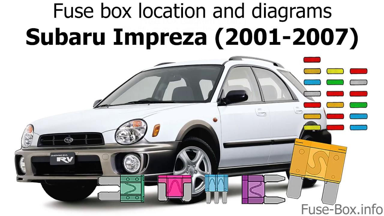 [QMVU_8575]  Fuse box location and diagrams: Subaru Impreza (2001-2007) - YouTube | 2007 Subaru Wrx Fuse Box |  | YouTube