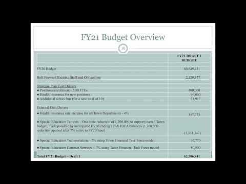 TM Resources: Belmont Schools FY21 Budget June 2020