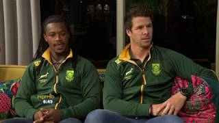 World Champion Blitzbokke Rugby players, Ruhan Nel & Branco du Preez