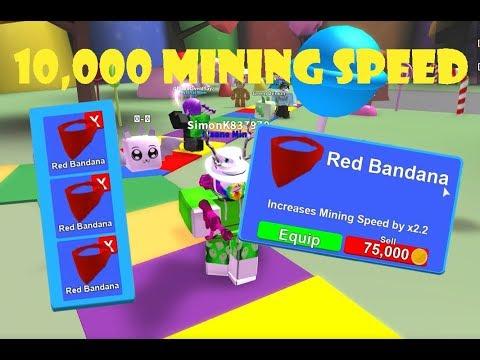 10,000 MINING SPEED!! | Roblox: Mining Simulator