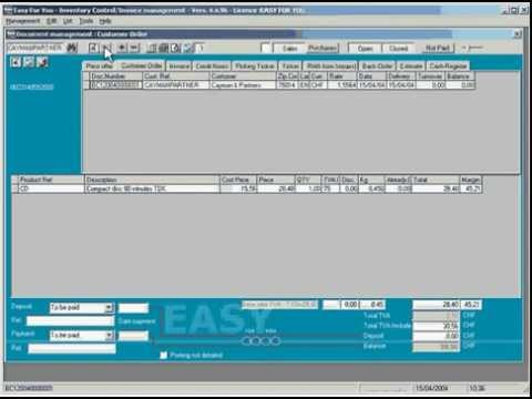 Stock control inventory and Invoice management software - YouTube
