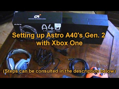 How To Setup Astro A40 (Gen 2) With Xbox One (CHAT + Game Audio)