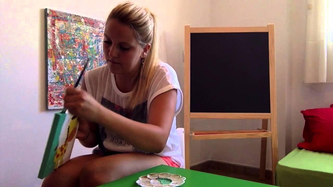 Pintar cuadros habitaci n bebe ni o ni a paso a paso - Cuadros para pintar en casa ...