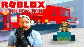 SNE = PENGE🤑💲💲! - Roblox Snow Shoveling Simulator Dansk