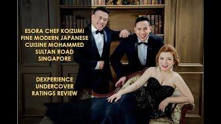 Esora Chef Koizumi Fine Modern Japanese Cuisine Mohammed Sultan Road Singapore Dexperience Review!