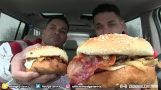 Eating Checkers (Rally's) A1 Buttery Steak Burger @Hodgetwins