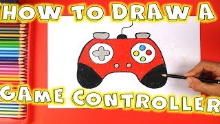 How to Draw a Game Controller - How to Draw a Joystick