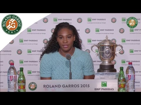Press conference Serena Williams 2015 French Open / Final