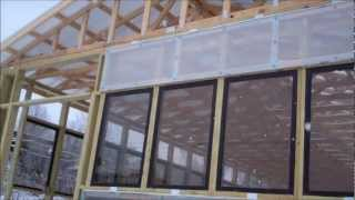 Greenhouse-polycarbonate and glass greenhouse construction 3-12