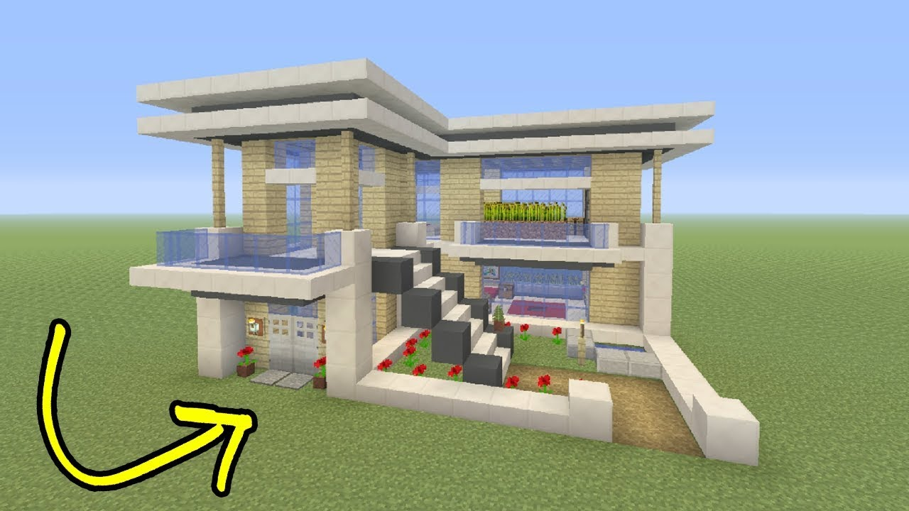 Minecraft Tutorial How To Make A Easy Small Modern House YouTube