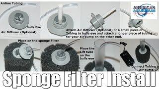 Aquarium Sponge Filter Installation-2
