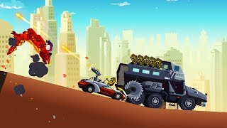 Dragon Hills 2 - Dragon vs Armored Truck with Zombies BOSS OMG! Game for Kids / Android Game Cartoon