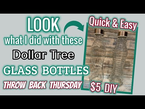 LOOK what I did with these Dollar Tree GLASS BOTTLES | QUICK & EASY $ 5 DIY