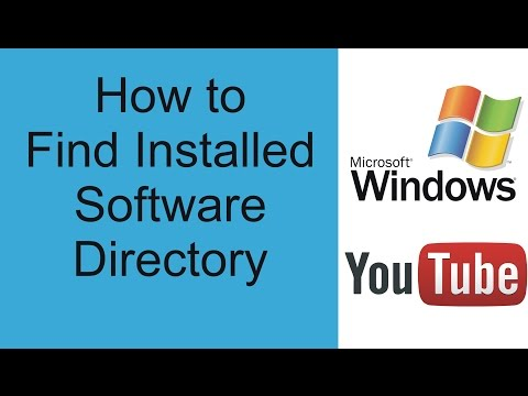 How to find installed software directory windows 7