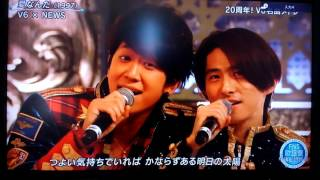 2016.12.16放送のFNS歌謡祭 V6 20周年メドレーです!