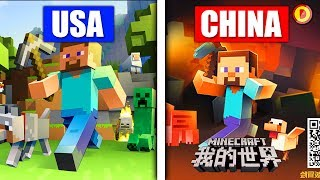 HOW MINECRAFT LOOKS IN OTHER COUNTRIES (Ps3/Xbox360/PS4/XboxOne/WiiU)